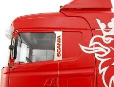 Für Tamiya Scania Truck Logo Emblem V2A Edelstahl seitlich rechts links Muster