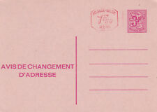 Belgium 3f+1f.50c Change of Adress Postcard (French language) Unused VGC