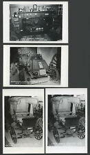 Schoharie NY: Four c.1940s RPPC Postcards OLD STONE FORT MUSEUM INTERIOR, AUTO +