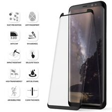 Poetic for Samsung Galaxy S8 Full Coverage Tempered Glass Screen Protector Bk