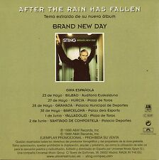 "STING ""AFTER THE RAINHAS FALLEN"" SPANISH PROMO CD SINGLE+TOUR DATES / THE POLICE"