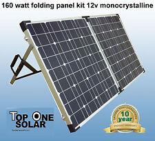 160W 12V Deluxe Folding Solar panel kit, New stock just arrived!