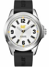NEW Men's Caterpillar CAT Special Edition Black/White Rubber Analog Watch