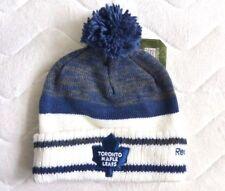 TORONTO MAPLE LEAFS Reebok Centre Ice Navy BOBBLE Beanie Toque Hat Hockey NHL