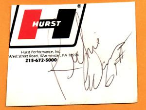 NASCAR Richie Evans original hand signed autograph