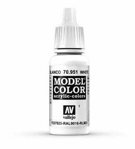 Vallejo White Model Color 17ml Acrylic Paint 70.951