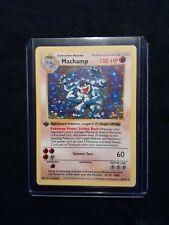 1999 Pokemon Machamp Shadowless 1st Edition Base Set RARE Holo NM/LP