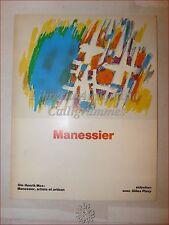 ARTE - MANESSIER [Alfred] Litografie Illustrato a Colori Anni '70 Henrik MOE