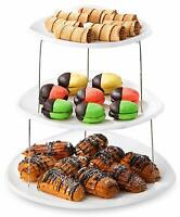 Collapsible Party Serving Tray Platter Appetizer 3 Tier Server Snacks Cake Fruit