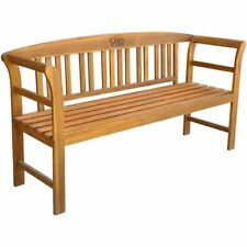 Rose Garden Bench Outdoor Seating Acacia Wood Backrest Patio Park Furniture