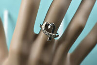 Tiffany & Co Picasso 18kt White Gold Diamond Loving Heart Ring Sizable 5 w. Box