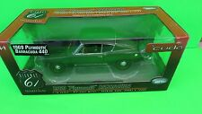 1:18 HIGHWAY 61 1969 PLYMOUTH BARRACUDA 440 DIECAST GREEN 50570 MODEL CAR