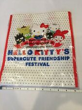 """Hello Kitty Friendship Festival 12"""" Exclusive reusable bag - tote - lunch"""