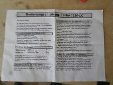 "Apollo Turbo 1230LC  Manual Good condition ""Uks Largest Amiga parts Dealer"""
