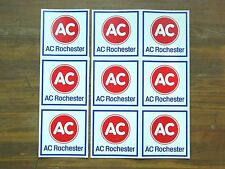 Vintage Lot of (9) AC Rochester Original Factory Stickers / Decals, Delco, GM