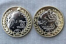 *NEW*ISLE OF MAN / INSEL MAN_2 x 2 Pounds 2018_Mike Hailwood Tourist Trophy_lose