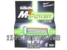 8 X Gillette Mach3  Power Razor Blades - 2 X 4 Pck 100% Genuine, clearance stock