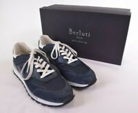 Berluti NWB Torino Sneakers in Navy Suede 8.5 9.5 D US Incolla $1,040
