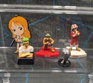 One Piece Anime Mini Toy Figure Lot Usopp Nami Keychain Zoro Stamp