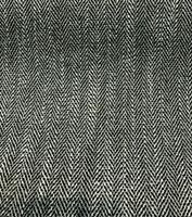 P Kaufmann Prescott Jet Black White Herringbone Upholstery Fabric by the yard