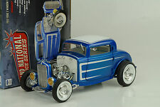 1932 FORD 3 WINDOW HOT ROD National Deuce Series # 3 LASER BLUE Cosmic 1:18 ACME