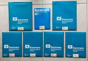 Kentmere B&W Darkroom Photographic Paper Job Lot Document Art / Bromide.