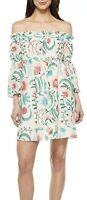NWOT Rachel Zoe Danica White Floral Off Shoulder Silk Blend Dress Women's Size 6