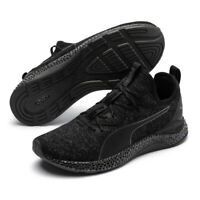 PUMA Hybrid Runner Mens Trainers Asphalt Lace Up Black Running Shoes