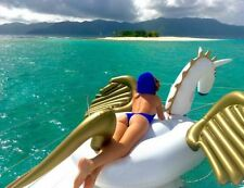 Giant Inflatable Unicorn Pegasus Float Leisure Swimming Water Pool Boat USA