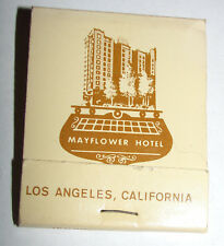 Vtg 1960s MAYFLOWER HOTEL Los Angeles CA California Matchbook Chat Room Grill