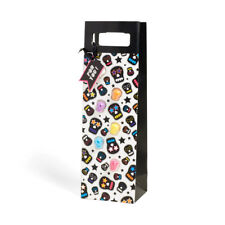 Nod Skull Bottle Gift Bag with Silicone Wine Glass Charms / Drink Markers