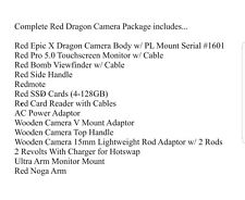 Red dragon camera Package ( We Will Sell Buy Rent Your Gear )