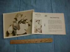 WASL Radio Station Promotional 8 x 10 Photo and Info on Tommy Butterball Paige