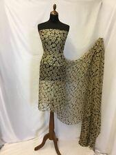 """Nouveau Italien 100% soie Frisolée Mousseline Imprimé Floral Tissu 53""""136cm robe foulard B"""