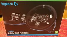 Logitech G920 Steering Wheel, Pedals for Xbox One PC - Black