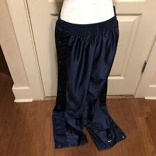 Vintage Nike Team Sports Tear Away Snap Basketball Warmup Pants Mens Large Blue