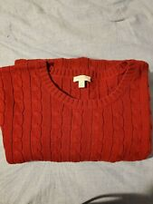 Talbots Crew Neck cable knit sweater 2X