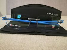 99b54e15fe TAG HEUER Reflex TH 3942 010 Blue Rimless Authentic New Eyeglasses Size  60-15