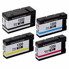 4 PK PGI 1200XL 1200 XL NON-OEM Ink Cartridges For Canon MAXIFY MB2020 MB2320