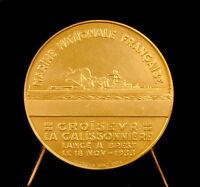 Medal Cruiser Roland-Michel Barrin de La Galissonière Brest 1933 Ship Medal