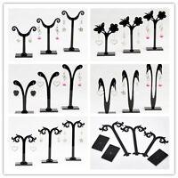 DIY 1 Set (3pcs) Black Acrylic Earring Jewelry Tree Shaped Display Stand Rack