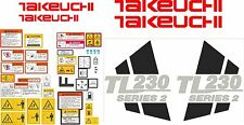 Takeuchi TL230 Decal Set- very high quality aftermarket decals