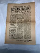 Massachusetts Spy Newspaper May 3 1775 Reprint Worcester Printed Isaiah Thomas
