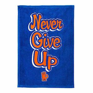 John Cena Never Give Up Blue Orange WWE Authentic Rally Towel