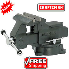 Craftsman 6 in Bench Vise 6inch Press Clamp Machine Repair Woodworking Vice Tool