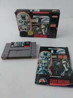 T2: The Arcade Game Super Nintendo SNES Terminator 2 With Box and Manual