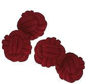 Bourgogne silk knot cufflinks