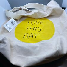 "LIfe Is Good ""Love This Day"" Canvas Tote Bag"