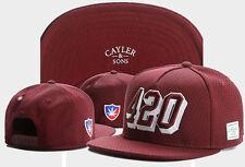 New Hip Hop Men's CAYLER Sons Cap adjustable Baseball Snapback Street Brown hat