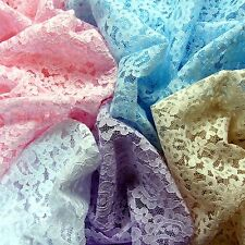Mesh Lace Fabric Pink White Blue Beige Craft 114cm Wide 1yd